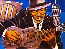 BLIND BOY FULLER PRINT poster blues steel guitar truckin' my blues away cd amp