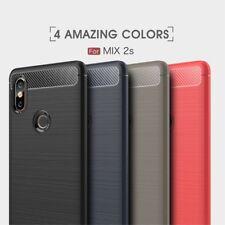 Housse etui coque silicone gel carbone pour Xiaomi Mi Mix 2S + film ecran