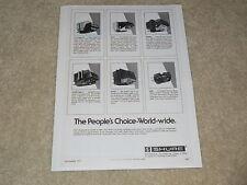 Shure 1977 Ad, 1 page, V-15 III, M24H, M95ed, M75ed 2, M70ej, Info, Articles