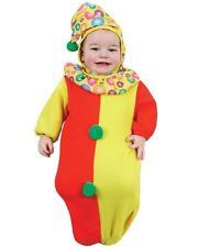 Costume Carnevale Neonato Abito Da Clown A Sacco + 0/9 Mesi PS 19745