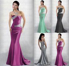 Sirena Vestido de Noche Fiesta Damas Honor Compromiso Abiball A902