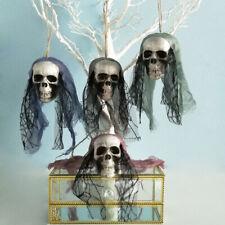Skull Bride Clothes Halloween Decoration Bone Head Hanging Party Supplies