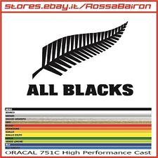 1 ADESIVO ALL BLACKS NEW ZEALAND RUGBY mm.100x70 -  STICKERS PEGATINAS AUFKLEBER