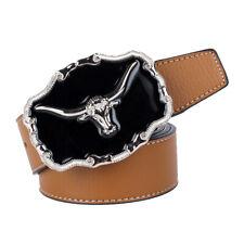 Ceinture en cuir de buffle Ceinture en cuir de cowboy américain Cowboy 76cee0cc3bd