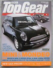 Top Gear 10/2000 featuring Aston Martin, Mercedes, Mini Cooper, Honda S2000,Ford