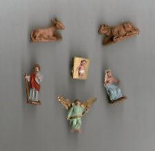 pastori PRESEPE NATIVITA' 1,5 cm  6 ELEMENTI shepherds NATALE made in italy