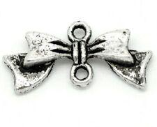 20pcs Tibetan silver bow tie knot shape connectors earring chandeliers 20mm
