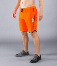 VIRUS Airflex 4-Way Stretch Training Shorts Orange with Black CrossFit