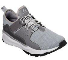SKECHERS Men's Relven-Arkson Slip On Stretch Laced Sporty Sneaker in Light Grey