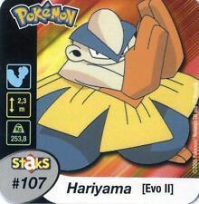 STAKS AIMANT POKEMON PANINI 50X50 N° 107 HARIYAMA