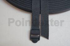 3/4 Inch, Nylon Webbing Poly, Tactical Black, Your Length, Lashing Strap, BOB LL