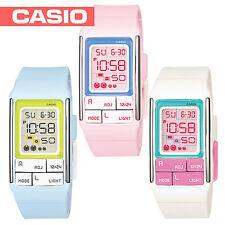 Reloj digital Casio Damas Poptone de los 3 Colores para Elegir LDF51 Reino Unido Vendedor