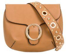 Casual Fashion Big Buckle Faux Leather Shoulder Bag Studded Strap Stylish Ladies
