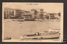 GOLFE-JUAN (06) BATEAU , RESIDENCES sur Bld de la PLAGE en 1933