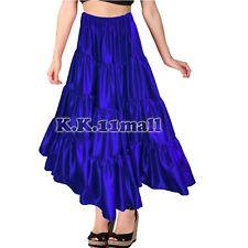 Blue -6 & 12 yard 4 Tier skirt belly dance Skirt Flamenco Skirt Fusion Dance S32