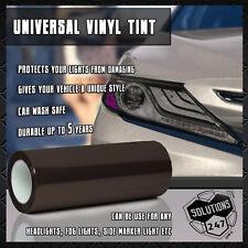 Glossy Light Smoke Black 50% Vinyl Film Tint Headlight Taillight Fog Light Wrap