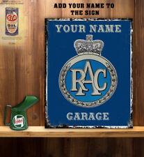 PERSONALISED RAC CAR SERVICE GARAGE WORKSHOP SHED Vintage  Metal Wall Sign
