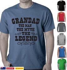 Funny T-Shirts Grandfather Grandad The man myth the legend Birthday Present tee