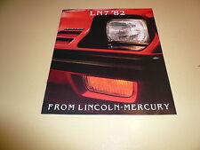 1982 Mercury LN 7 Sales Brochure - Vintage