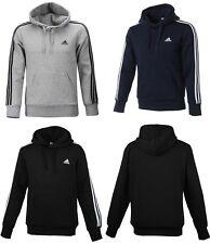 Adidas Men Essential 3S Hoody Jacket Training Black Gray Navy ESS Top Tee Jersey