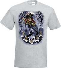 T-Shirt en Ashton avec Tatouage Motifs gothiques Modèle Tête de mort Guitare