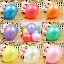 25 TO 100 Metallic pearlised  helium BALLOONS Quality Birthday Wedding BALOONs