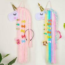 Unicorn Hair Bows Hair Clips Hairband Storage Belt Holder Accessories For Girls