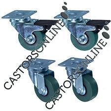 Resistente Ruote Di Gomma per Trolley Mobile,confezione da 4 50-125MM/