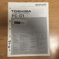 Original Toshiba Service Manual for PC Model Cassette Tape Decks ~ Select One