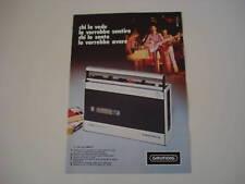 advertising Pubblicità 1974 GRUNDIG C 230