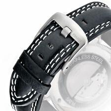 PILOT Uhrarmband Fliegeruhr schwarz Leder Uhr Armband B-Uhr JET Watch Uhrband