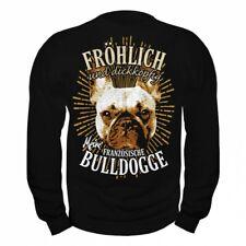 Pullover Sweatshirt Französische Bulldogge Dogs Rasse Begleithunde french bulldo