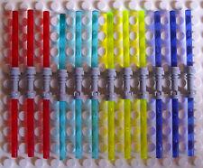 12 LEGO DOPPIO SPADE LASER IN 4 colori con manico grigio