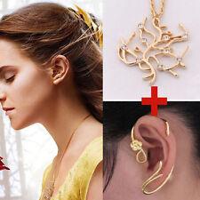 Die Schöne Und Das Biest Belle Earrings Ohrring Gold Cos + Rose Tree Halskette