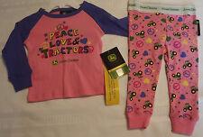 John Deere 12 Month 2T 4t Size 4 Choice Pajama Sleepwear Pant Shirt Set NWT