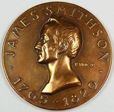 "James Smithson Bronze 2"" Medal, Bicentennial- P. Vincze- Smithsonian"
