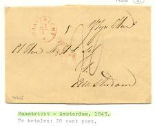NEDERLAND 1843 OMSLAG  MAASTRICHT-AMSTERDAM   PR  EX ZIE TEKST