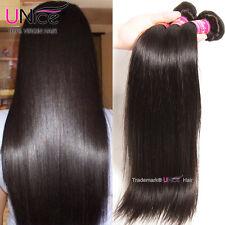 UNice Peruvian Virgin Hair Straight 3 Bundles Unprocessed Human Hair Extensions