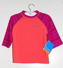 NWT Columbia Girls Orange & Purple Mini Breaker II SS Rash guard Swim Top XS M