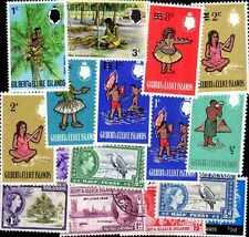 ILES GILBERT - GILBERT ISLANDS collections de 25 à 50 timbres différents