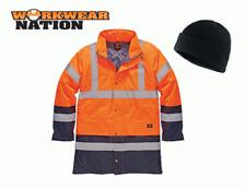 Dickies High Visibility Two Tone Parka Jacket Waterproof Hi Vis Orange FREE HAT