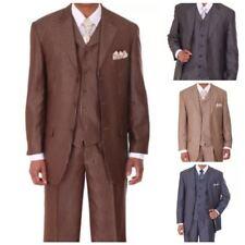 Men's 3 piece Milano Moda Stylish Modern Sharp Pencil Striped Suit M5802V5