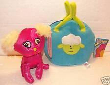 Fancy Pink Puppy Dog & Lamb Pillow Purse! NEW!