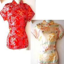 Asia Miss China-Geisha-Qipao Bluse/Blazer/Top Shirt Drachen-Muster Gr.34-48