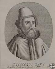 Theodorus Gaza Thessaloniki Ferrara Aristoteles Mantua Venedig Griechenland