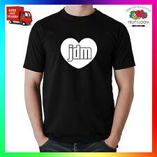 I Love Jdm T-Shirt Shirt Tee CUORE giapponese auto d1 DRIFT JGTC Stance EVO HONDA