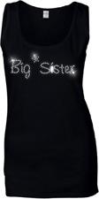 Big Sister SEÑORA CRISTAL Camiseta - Estrás pedrería Todas Las Tallas 6 -18