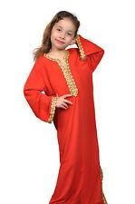 Mädchen Kleid Kinder Kaftan Faschingskleid Tanzkleid aus1001 Nacht rot - KK0195
