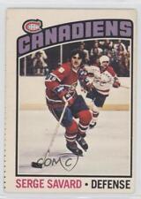 1976-77 O-Pee-Chee #205 Serge Savard Montreal Canadiens Hockey Card