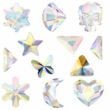 Swarovski (Skull Heart Star Triangle) AB Crystal (No Hotfix) Rhinestone Diamante